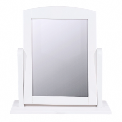 White Single Dressing Table Mirror